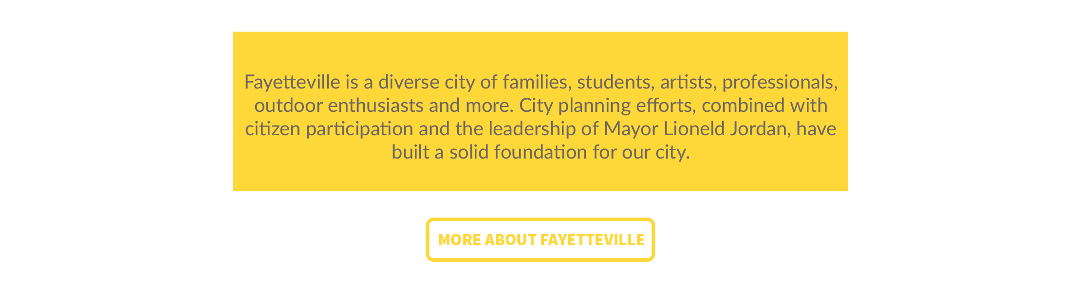 About Fayetteville
