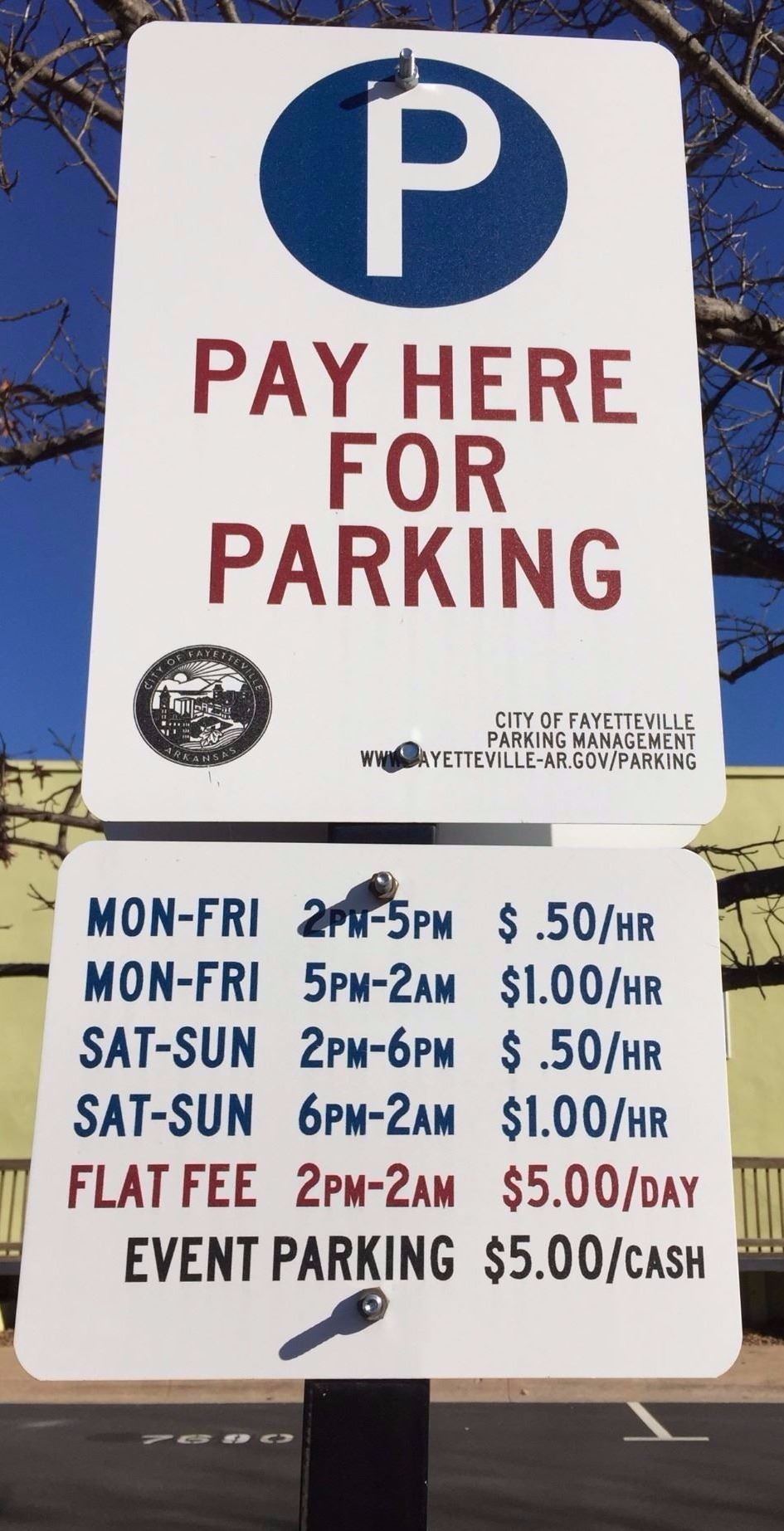 Parking_Payment Sign