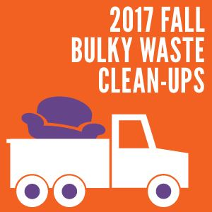 Bulky Waste Clean-up Events Fall 2017