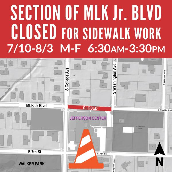 Section of MLK Jr. Blvd Closed