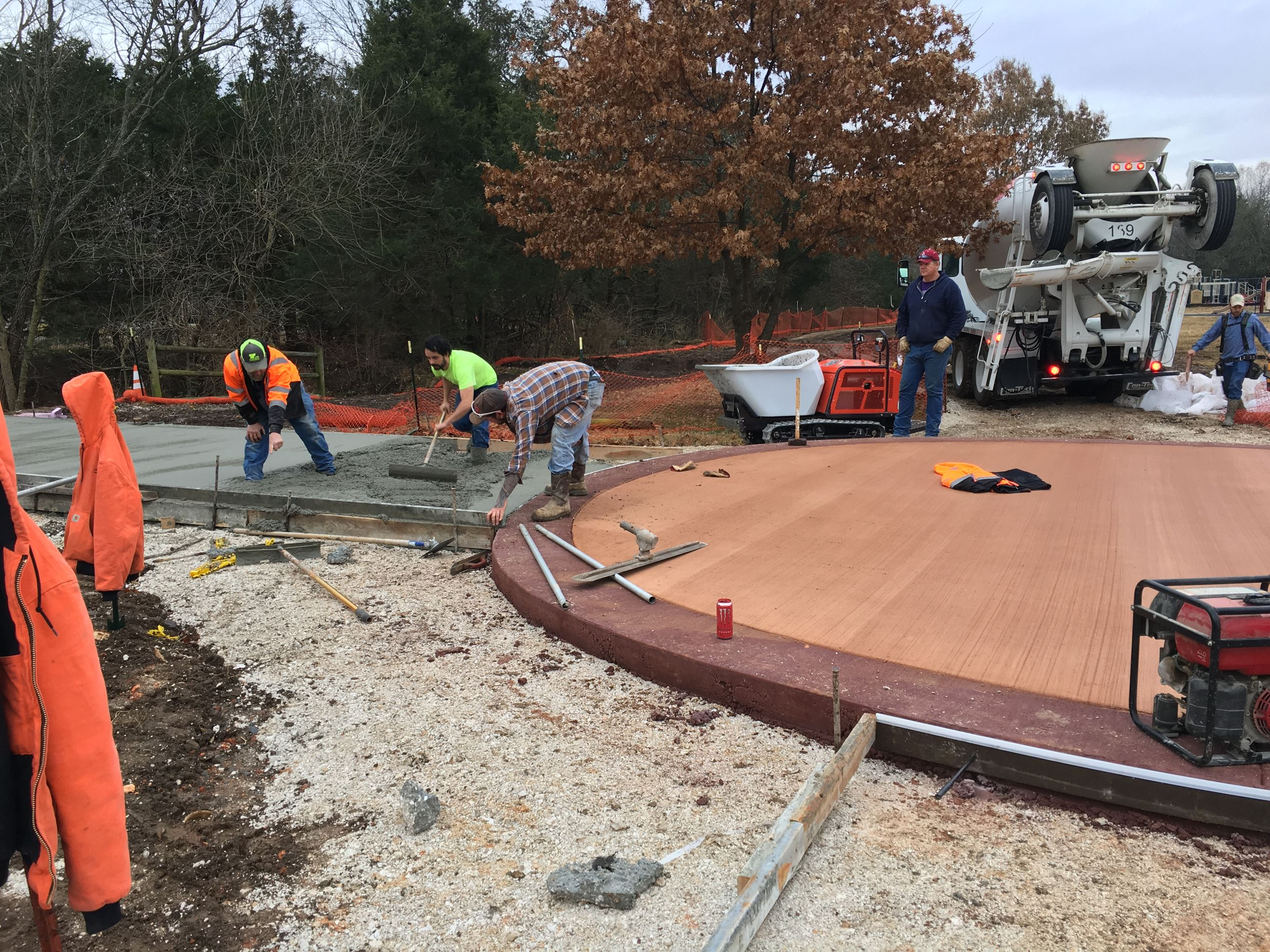 Gulley Park trail construction