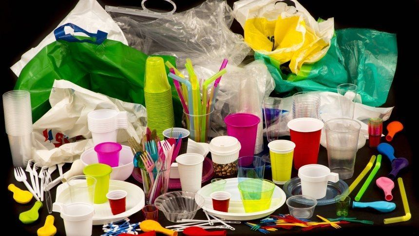 Disposable tableware, drinking-straws, and plastic bags