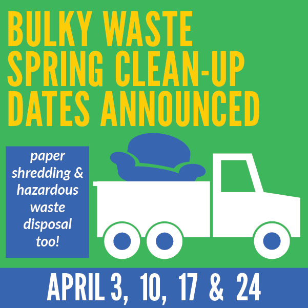 Bulky Waste Spring Cleanups Announced