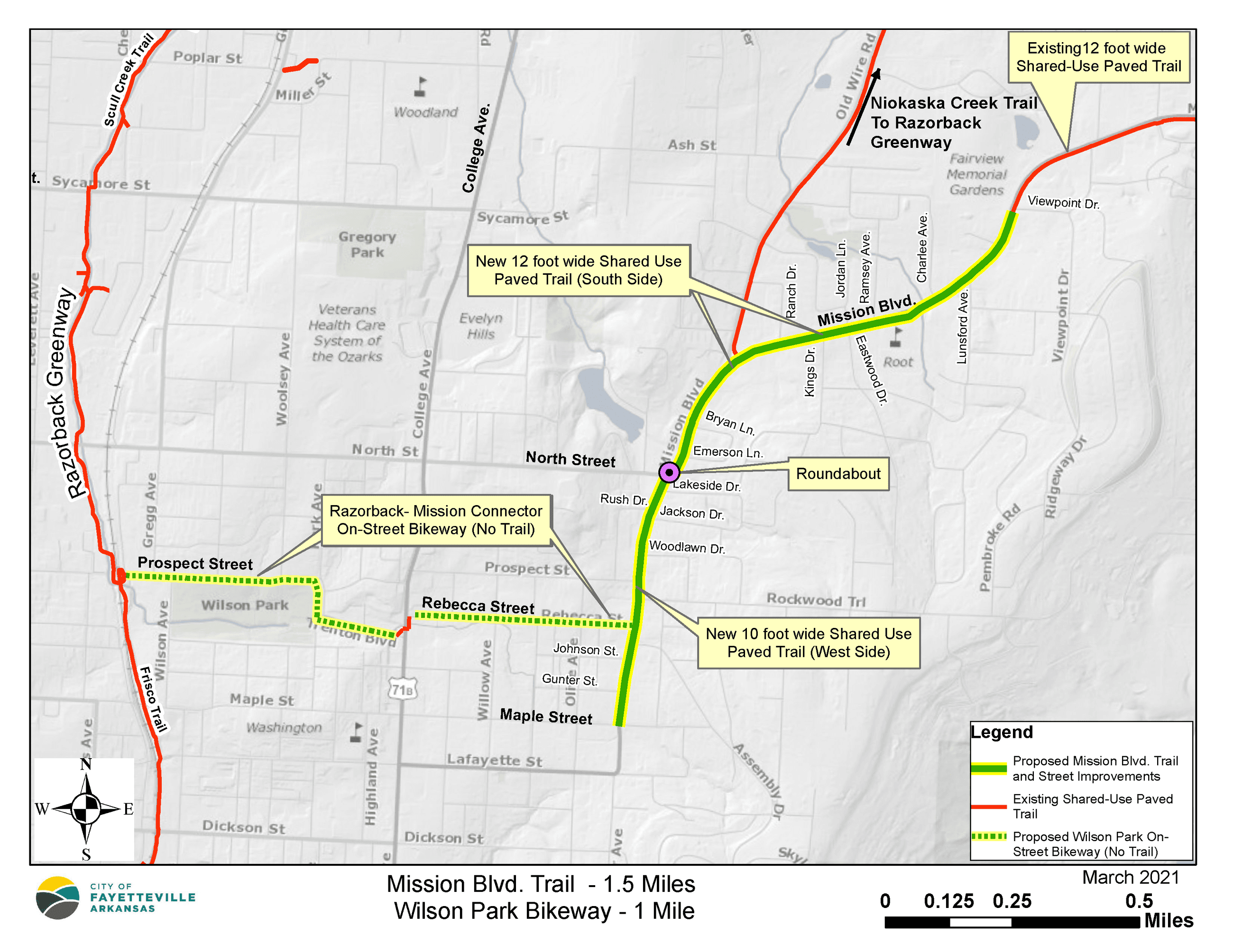 Mission Blvd Trail Map - March 2021