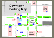 Map of Downtown parking locations