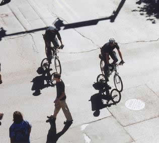 Bicycle Police Shadows