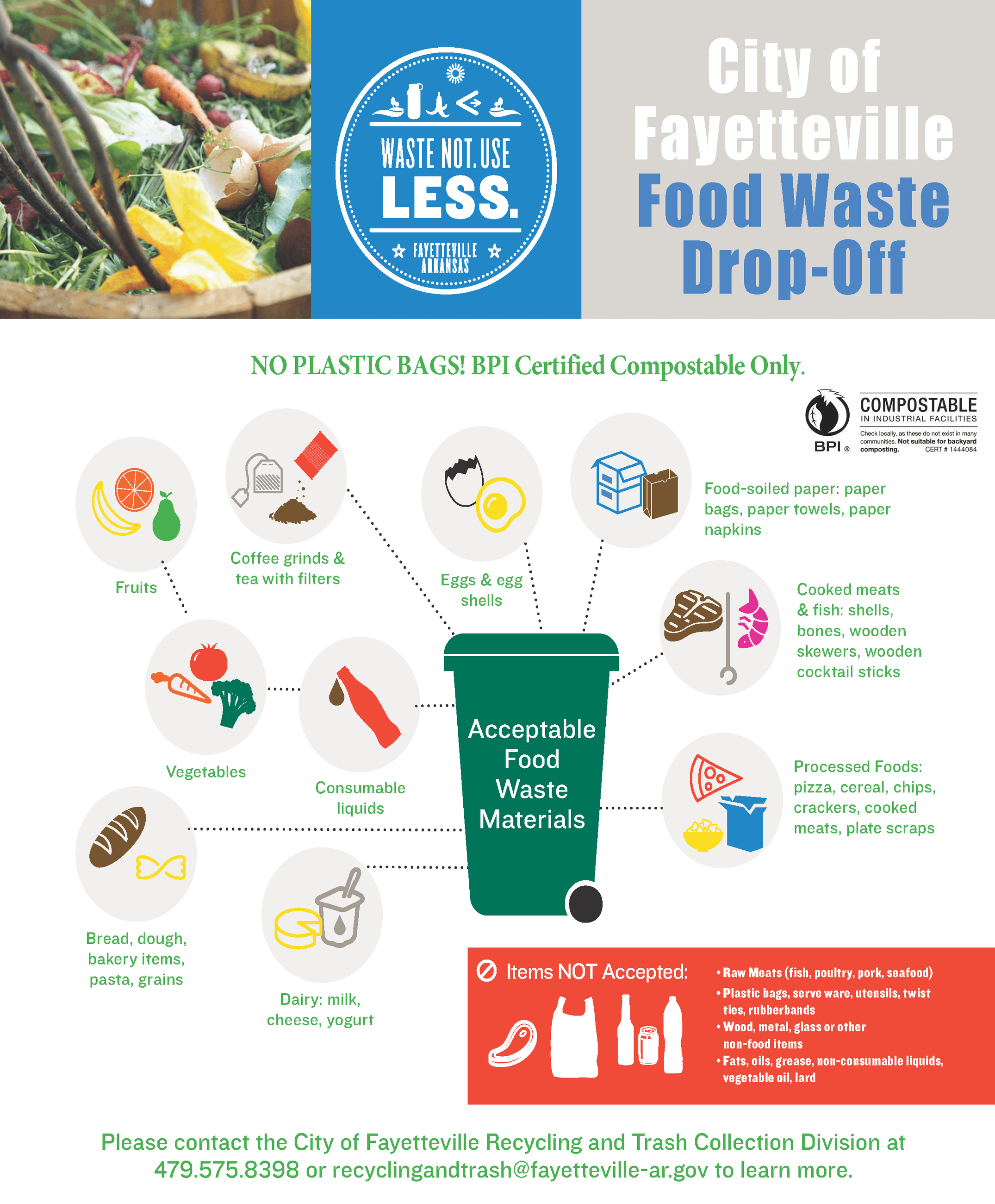 food waste drop off- with BPI