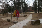 Braden Park playground during a winter day