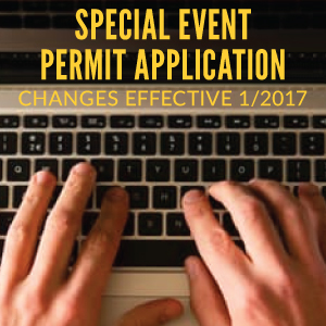Special Event Permit Application changes